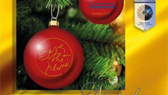 Il Club anche quest'anno ha aderito alla Campagna 100 di LCIF acquistando 51 palle di Natale