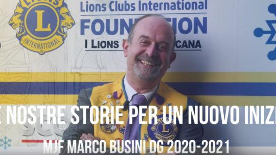 Le nostre storie per un nuovo inizio – Marco Busini DG 2020-2021